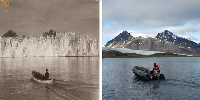 Арктика 100 лет назад и сегодня.