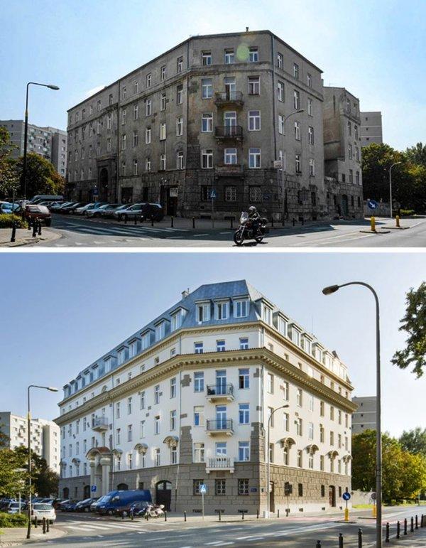 Дом в Варшаве до реконструкции и после