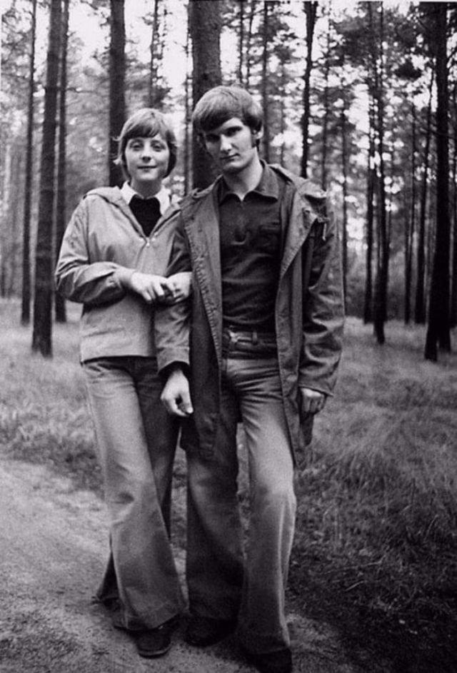 Ангела Меркель со своим мужем Ульрихом