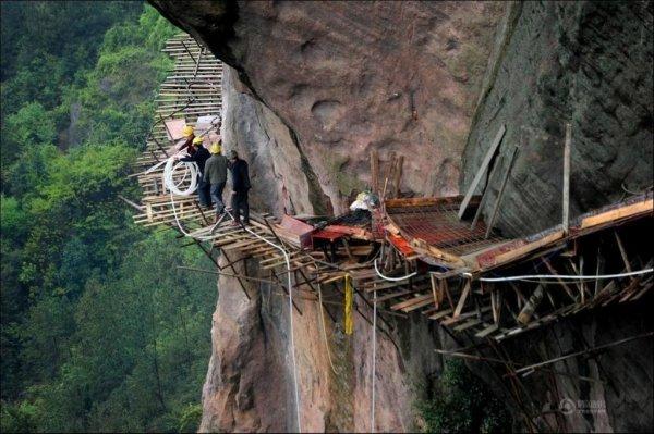 Строители туристических троп в Поднебесной