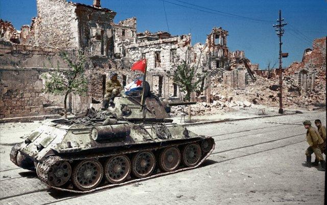 Фотографии СССР времен Великой Отечественной войны в цвете