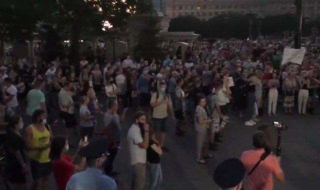 В Хабаровске продолжаются митинги в поддержку Сергея Фургала