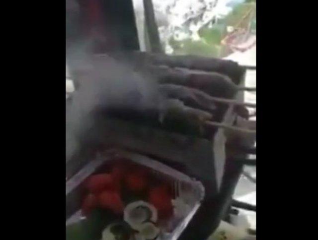Пожарил шашлыки - спалил кран