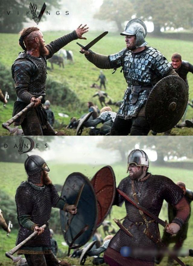 """Викинги и британские воины из сериала """"Викинги"""""""