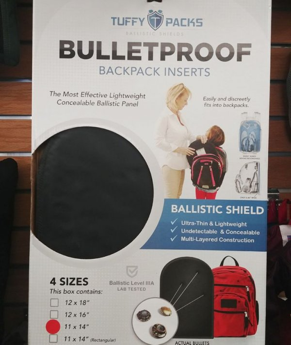 Пуленепробиваемая вставка для рюкзака