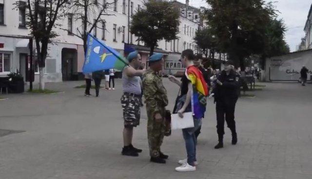 В Ярославле активист ЛГБТ провоцировал десантников