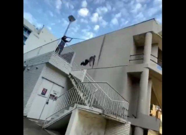 Очень эффектный прыжок