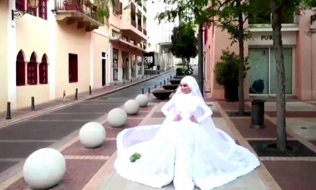 Взрыв в Бейруте прервал свадебную церемонию