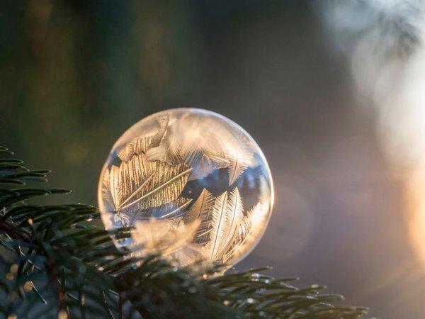 Замороженный мыльный пузырь