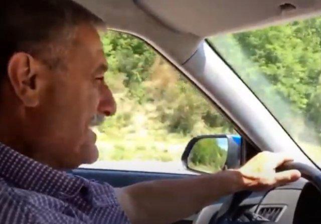 Армянин допелся за рулем и устроил аварию