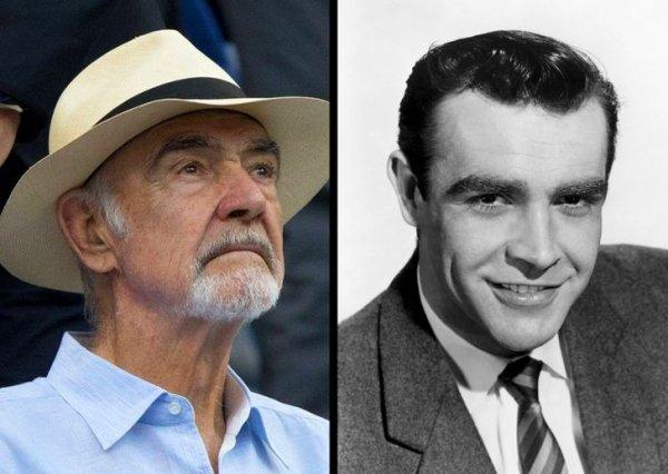 Шон Коннери, 89 и 28 лет