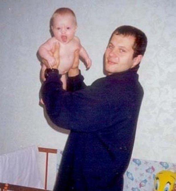 Фёдор Емельяненко с дочкой Марией, 1999 год