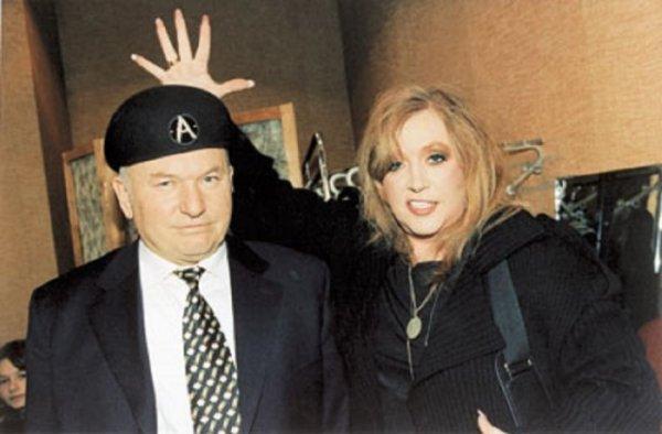 Юрий Лужков и Алла Пугачёва, 1999 год