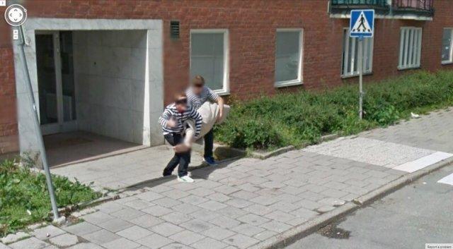 Неловкие моменты, найденные на Google Maps