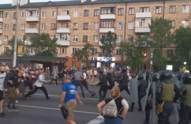 Столкновения с правоохранителями в Белоруссии