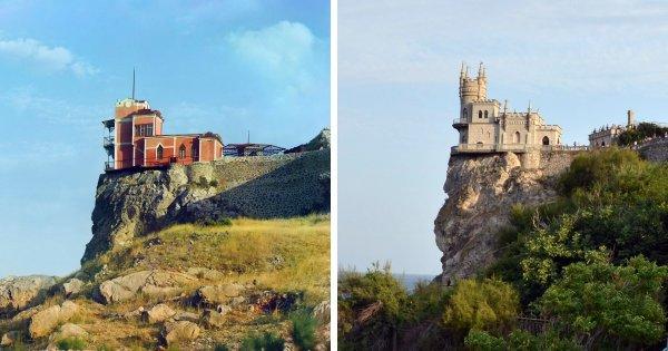 Ласточкино гнездо, Крым: 1904 год и сейчас