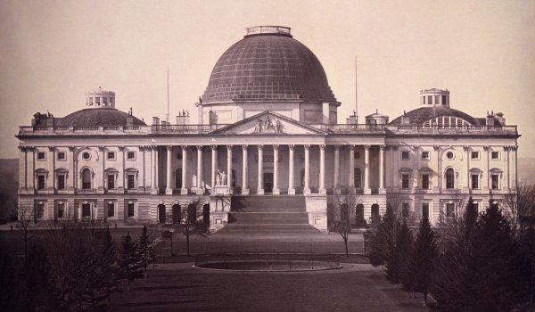 Капитолий, Вашингтон: 1846 год и сейчас