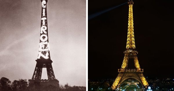 Эйфелева башня, Париж: 1925 год и сейчас