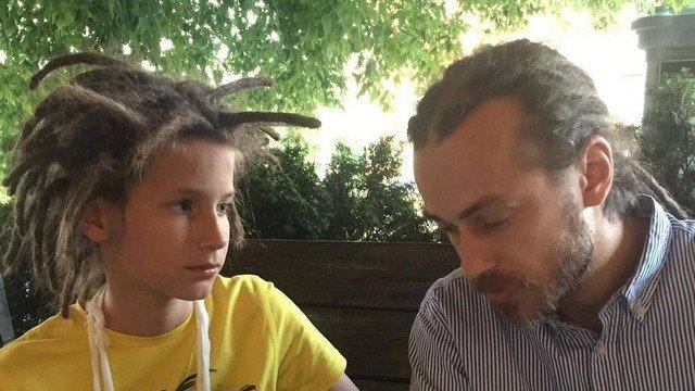 Децл с сыном Тони