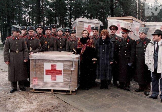 Хиллари Клинтон, белорусские военные и гуманитарная помощь. 1994 год.