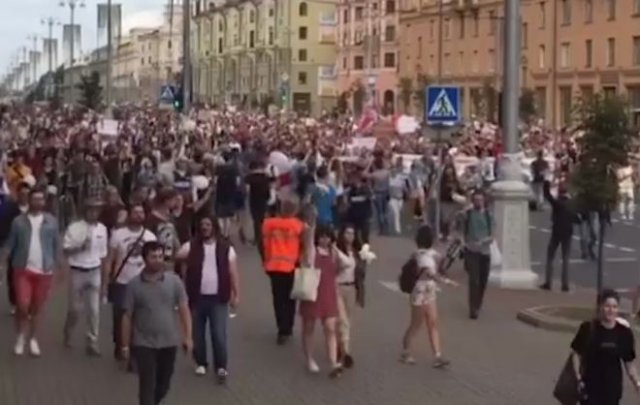 Масштабы протестов в Минске