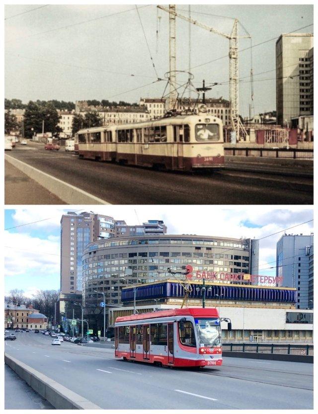 Мост Свободы/Сампсониевский мост1981 и 2020 год.