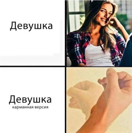 мем про карманную девушку