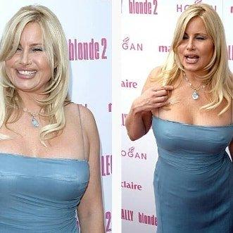 Дженнифер Кулидж - легендарная мама Стифлера в синем платье с деколте