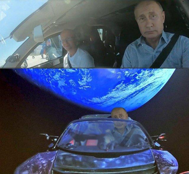 """Владимир Путин на трассе """"Таврида"""" шутка про Илона Маска и космос"""