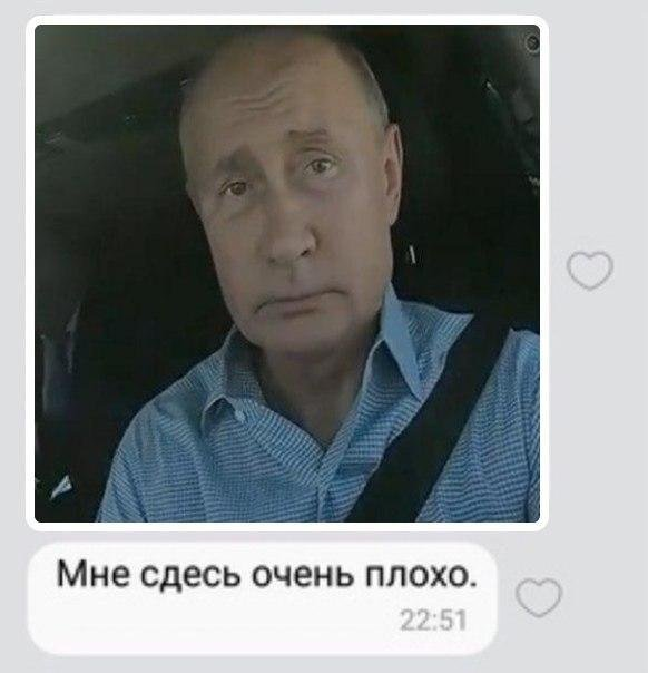 "Владимир Путин на трассе ""Таврида"" - грустит"