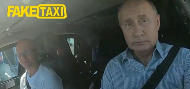 """Владимир Путин на трассе """"Таврида"""" - шутка про FakeTaxi."""