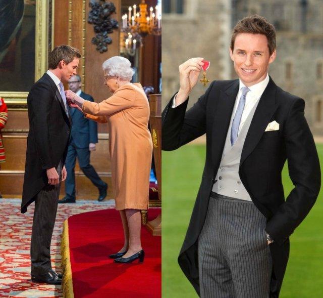 Эдди Редмэйн принимает орден британской империи
