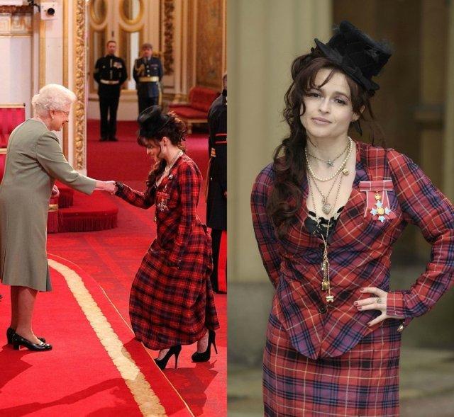 Хелена Бонем Картер принимает орден британской империи