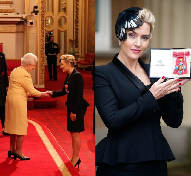 Кейт Уинслет принимает орден британской империи