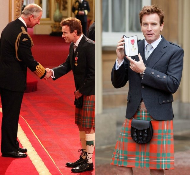 Юэн Макгрегор принимает орден британской империи
