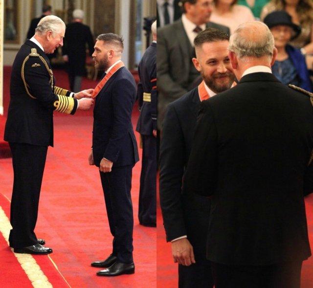 Том Харди принимает орден британской империи