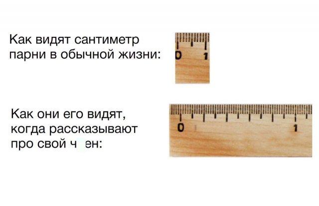 мем про сантиметр