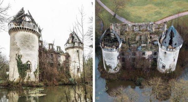 Все что осталось от замка во Франции