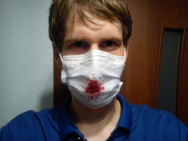 лайфхак с кровавой маской