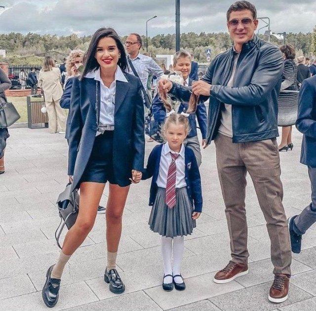Ксения Бородина с дочерью и мужем Курбаном