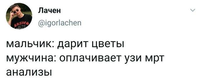 Твит про мальчиков и мужчин