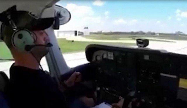 Полет курсанта на самолете из Канады