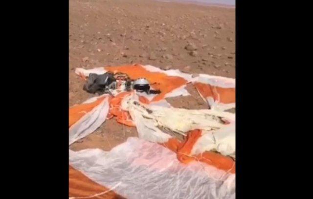 Выживший пилот истребителя снял видео после того, как его подбили