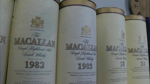 """Коллекция 18-летних бутылок виски """"Макалла""""н"""
