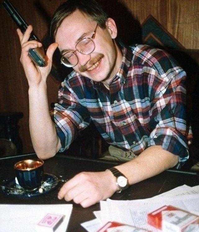 Скандально известный предприниматель Герман Стерлигов, 1991 год.