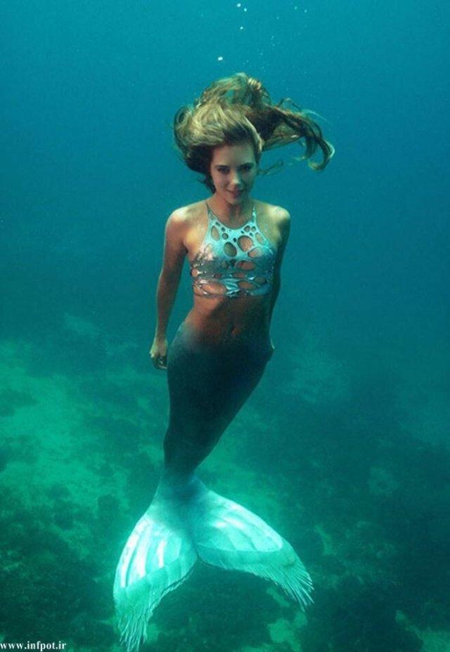 Ханна Фрейзер в образе голубой русалки