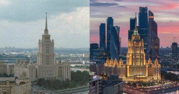 Фото Москвы с разницей в 20 лет