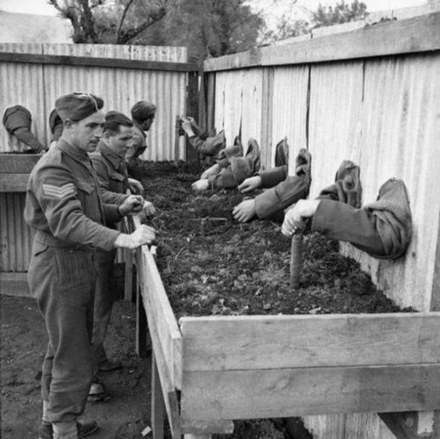 Тренировка саперов, Великобритания, 1940-е.