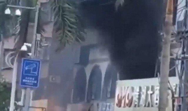 Взрыв около отеля в Китае