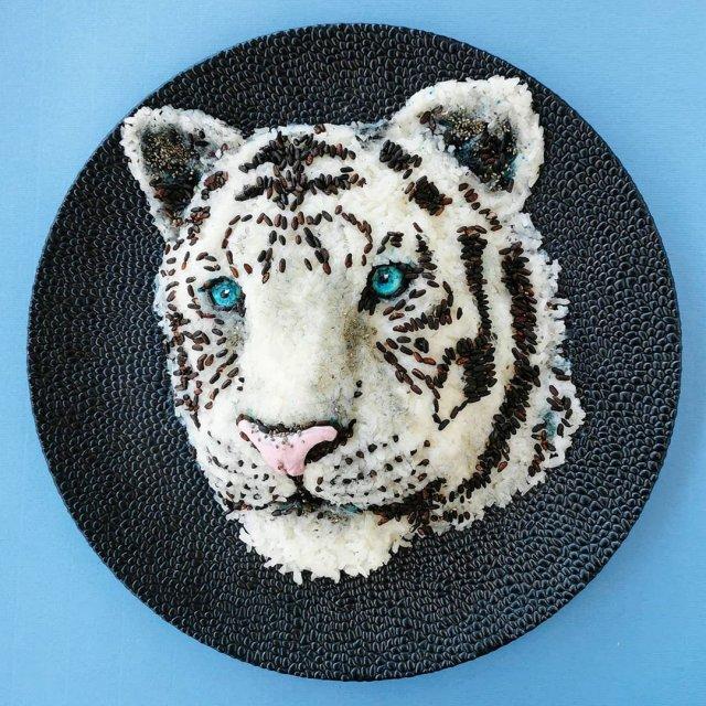 Йоланда Стоккерманс приготовила блюдо в виде белого тигра